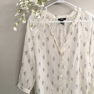 Paige Sammy White Ikat Blouse